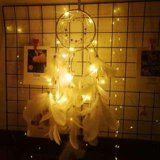 🔥CHEAPEST - LED Fairy Light Dream Catcher Dreamcatcher (Pure White)