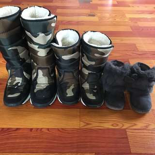 Winter boots - kids and woman 3 pairs for sale