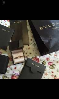 Authentic BVLGARI Bzero-1 RING (PINKGOLD)