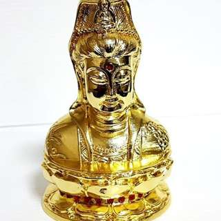 Golded  Buddha Staue in solid metal