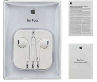 "Apple earpods with serial code and cable marks ""With box and manual"" Order now"