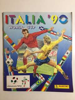 Vintage Panini World Cup Italia 90 Soccer Stickers Album