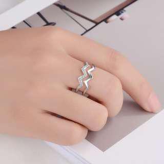 [3 for $10] B215 - Elegant ring (silver color)