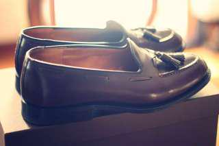 Church's Shell Cordovan Tassel Loafers