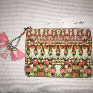 Camilla Samba Salada small canvas clutch