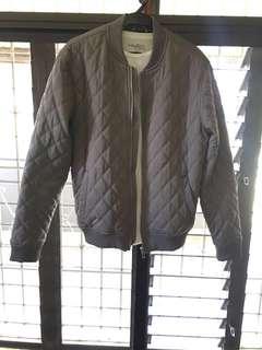 REPRICED: Zara Man Premium Gray Padded Bomber Jacket