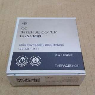 THEFACESHOP CC Intense Cover Cushion V203(Natural Beige) 15g, SPF 50+ PA+++