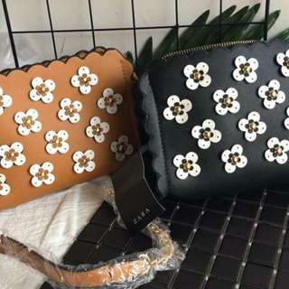ZARA Sling Bag w/ Flower design FREE SHIPPING!!!