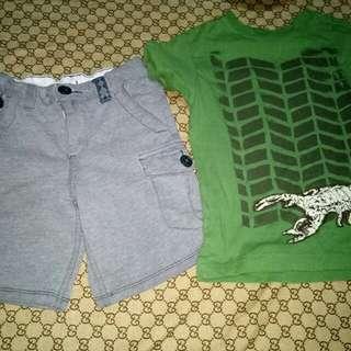 Genuine OshKosh Shorts and Top(Size 4-5y/o)