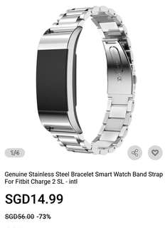 Stainless Steel strap for Fitbit Charge 2