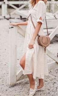 Cap sleeve a line dress size Large