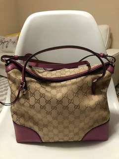 Auth Gucci bree canvass