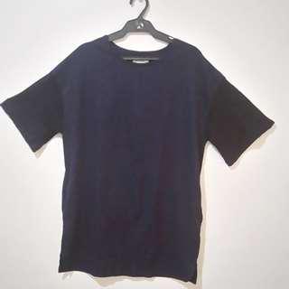 Navy blue with black laced sleeve Lepsim dress