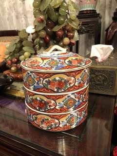 Japanese ceramic tiffin