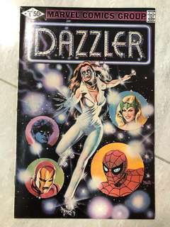 Comics: Rare Marvel's Dazzler #1 issue (collectible)