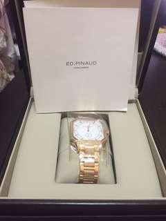 Ed.Pinaud Paris 鑽石玫瑰金女裝錶