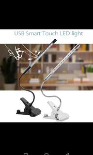 LED Table light with clip.