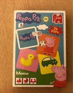 🚚 全新,Peppa pig 記憶配對,未拆膜
