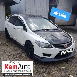 Sporty HONDA CIVIC 1.8A with FD2R type R bodykit & Exhaust Fast & Smooth