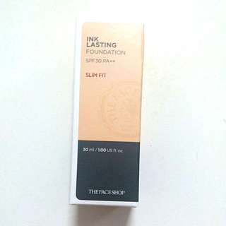 Ink Lasting Foundation Natural Beige (Yellow tone) SPF30++ Slim Fit 30ml