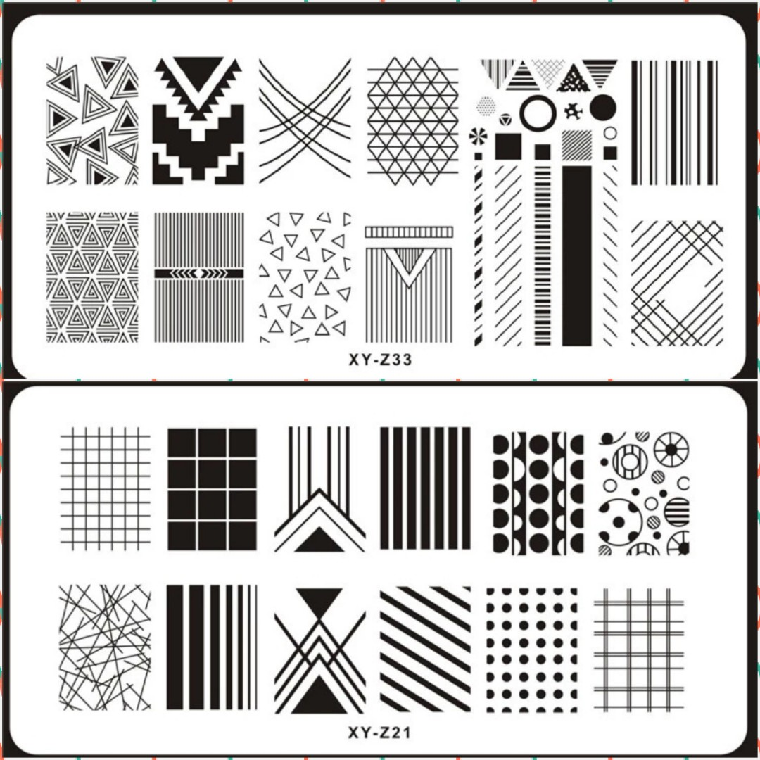 1 Pcs New Brand Diy Nail Art Stamp Plate Stamping Plates Steel Nails