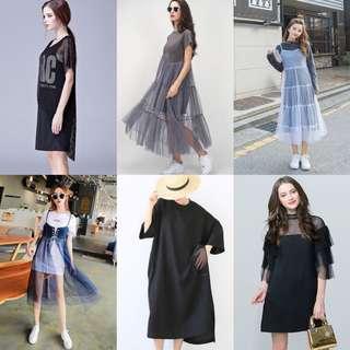 Korean mesh dresses