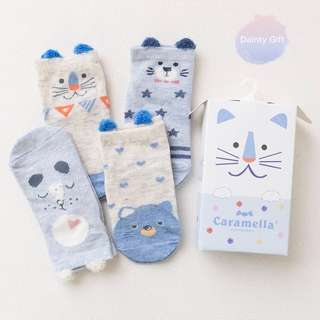 🚚 *PREMIUM* Cute Blue Bears Socks