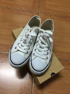 《二手》Pony白色帆布鞋 25.5