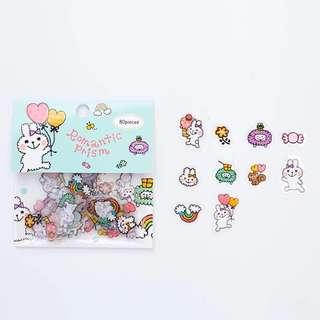 [PO] Romantic Prism bunny sticker flakes