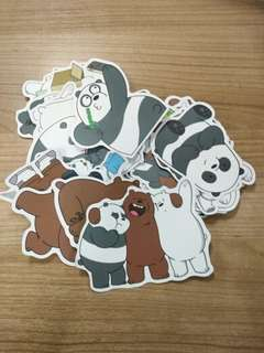 (Pre-order) We Bare Bears stickers (36 pieces)