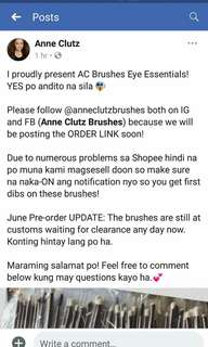 Pre order anne clutz brushss