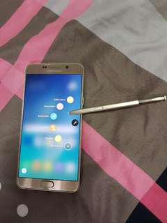 Samsung note 5(Gold)