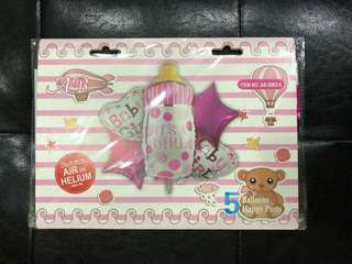It's A Girl - Party Foil Balloons (5in1)