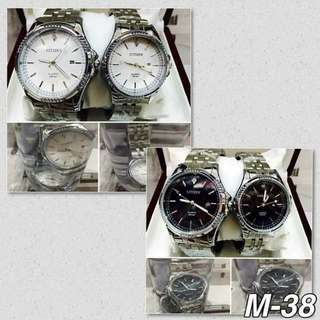 Silver Couple Watch