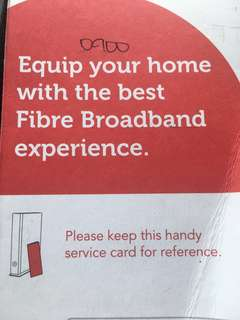 Singtel Fiber Optic Broadband - 14 month contract at a discounted manner