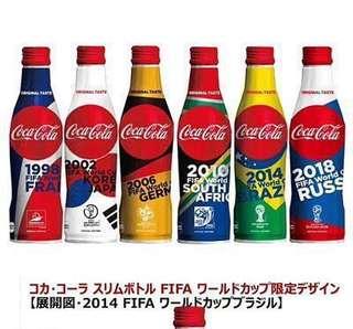 日本限定世界盃特別版可口可樂(一套6支)