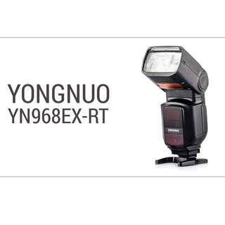 YONGNUO YN968EX-RT Flash Speedlite High-speed Sync TTL with LED Light for Canon DSLR Cameras