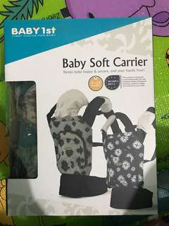 Baby soft carrier
