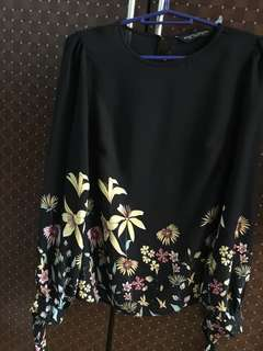 Dorothy Perkins Floral Black Blouse Original