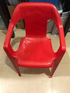 紅A小童紅色膠櫈仔(硬淨穏陣) 原價$85