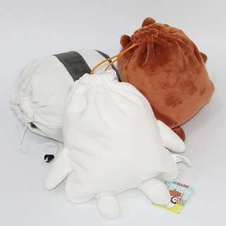 (Pre-order) We Bare Bears drawstring pouch