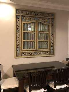 Further reduced! Peranakan style wall mirror