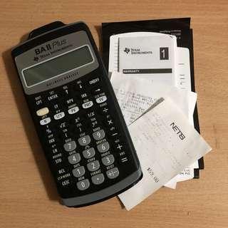 BA II Plus Calculator (With Warranty)