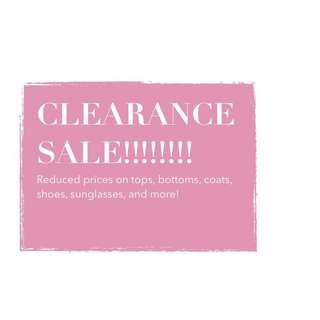 MASSIVE CLEARANCE SALE!!