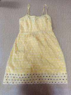 F21 yellow dress