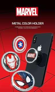 韓國直送 ✈️ Marvel 金屬面手機支架/環形夾