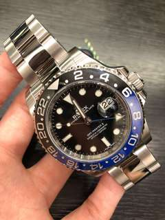全新Rolex 116710BLNR 藍黑圈