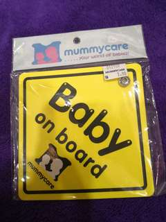 Baby and mum listed board