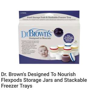 Dr. Brown's Flexpods Storage Jars and Stackable Freezer Trays