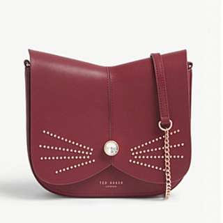 Ted Baker Chriiss Crystal Stud Leather Cat Bag